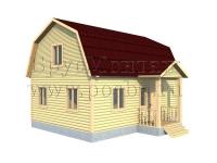 Проект двухэтажного дома 6х8 с крыльцом