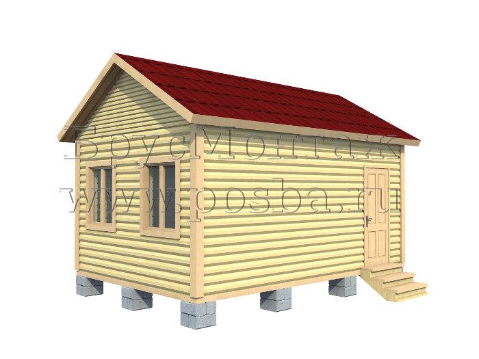Одноэтажный дом из бруса «Под ключ» 6 на 4