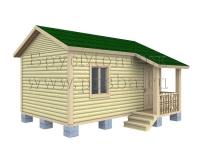 Проект одноэтажного дачного дома 6 на 4