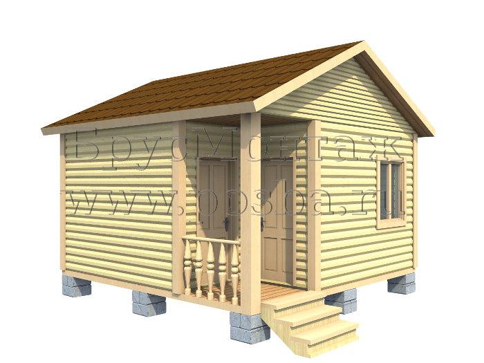 Одноэтажный дом из бруса «Под ключ» 5 на 5
