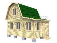 Проект двухэтажного дачного дома 6х5 с верандой