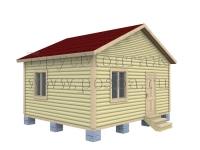 Одноэтажный дом  5 на 6
