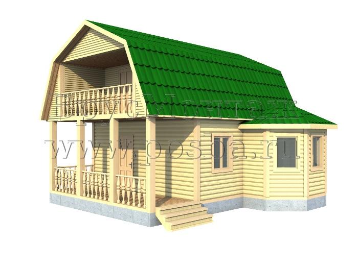 Жилой дом (брус) за 355000 руб.