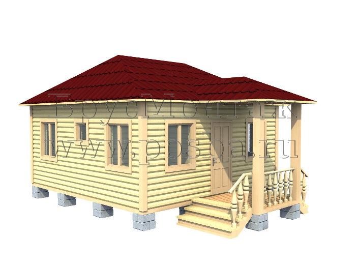 Одноэтажный дом из бруса «Под ключ» 6 на 6