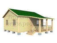 Проект одноэтажного дома 7х6 с террасой