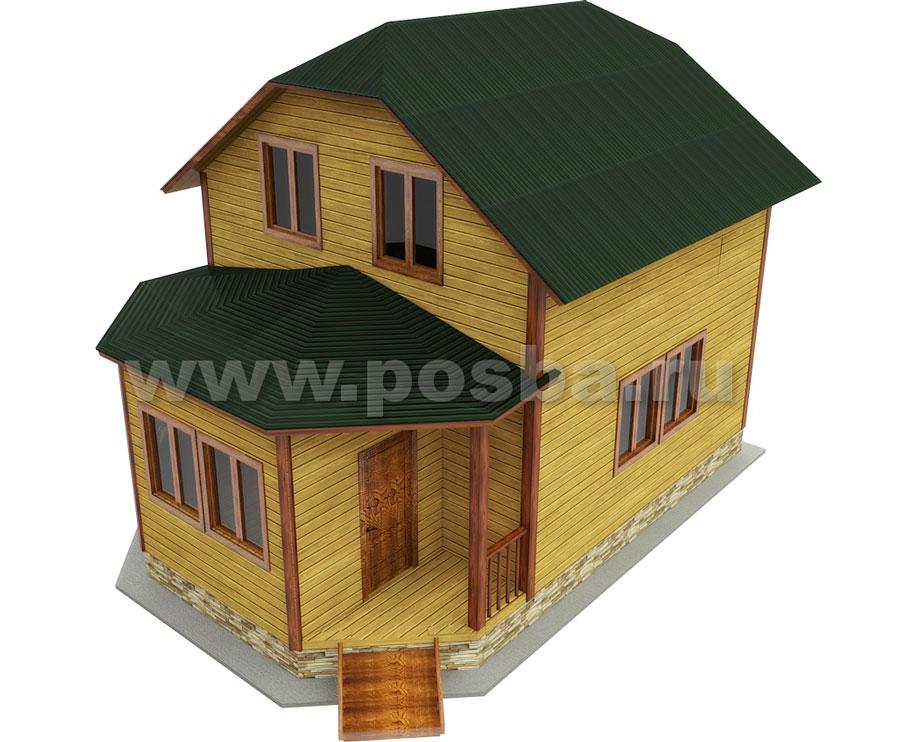 Пдд 29 проект двухэтажного дома 6х8 с