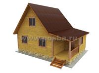 Проект двухэтажного дома 6х8 с террасой