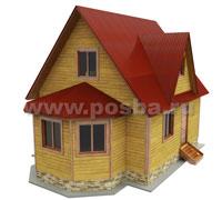 Проект двухэтажного дома 6х8 с эркером