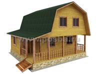 Проект двухэтажного дома 9х7 с верандой