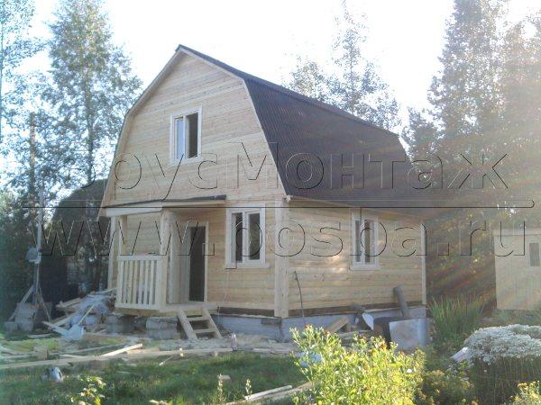 Строительство деревянных домов под ключ в Бронницах компанией БрусМонтаж