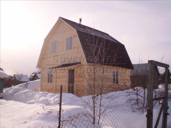 Цены на строительство домов из бруса с мансардой