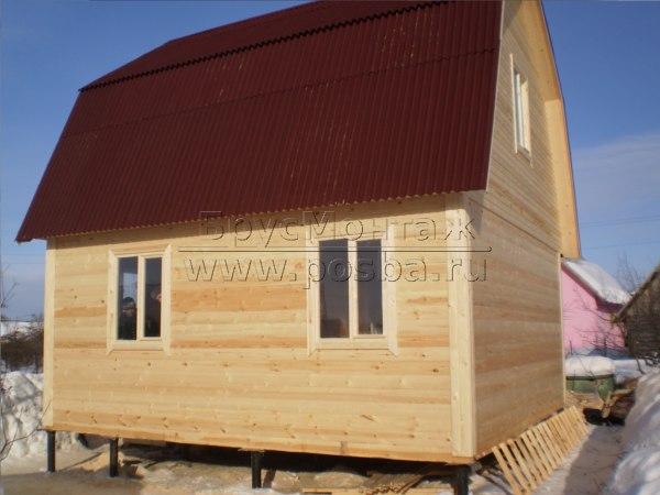Цены на строительство домов из бруса в Великом Новгороде и Новгородской области.