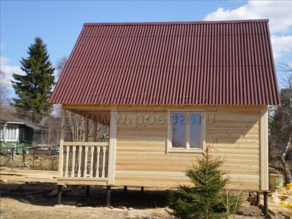 Цены на строительство домов из профилированного бруса в Пскове и Псковской области под ключ