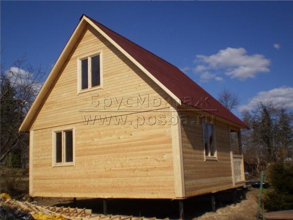 Строительство одноэтажных домов недорого из бруса и каркасно-щитовых