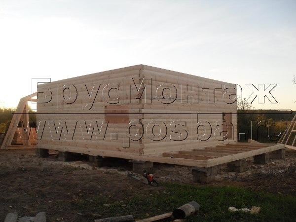 Строительство одноэтажных деревянных домов из бруса