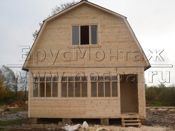 Строительство деревянных домов из бруса под ключ в Рязани