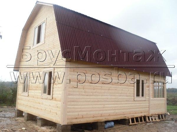 Строительство дешевых деревянных домов из бруса под ключ