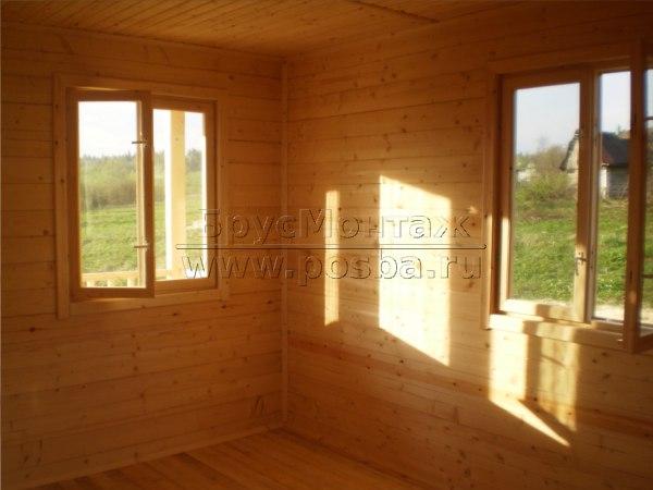 Строим дачные деревянные дома из профилированного бруса и каркасно-щитовые недорого и под ключ